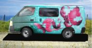 Pink Butterfly Self Contained Campervan