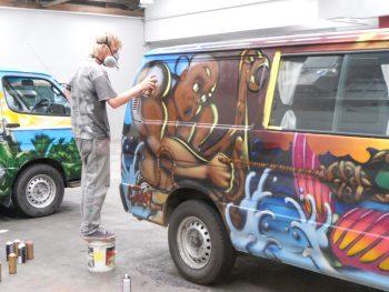 Campervan Grafitti Art